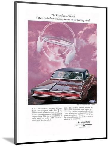 1966 Thunderbird Speed Control--Mounted Art Print