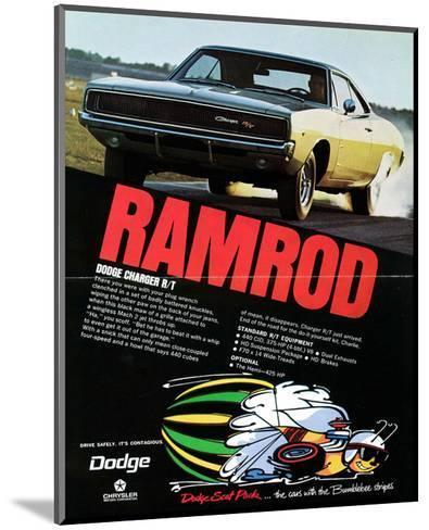 1968 Dodge Charger Ramrod--Mounted Art Print