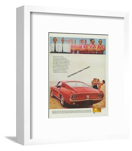1968 Mustang Makes It Happen--Framed Art Print