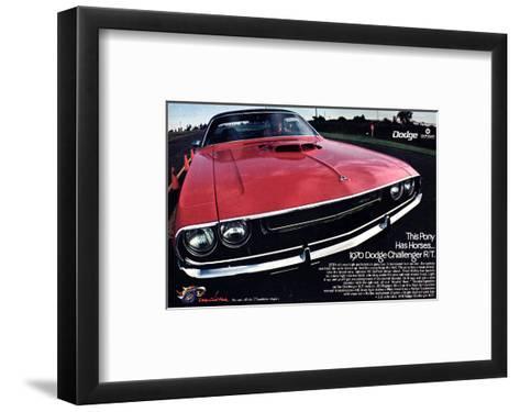 1970 Dodge Challenger Thispony--Framed Art Print