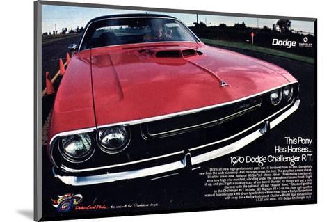 1970 Dodge Challenger Thispony--Mounted Art Print