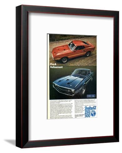 1969 Mustang Fire & Refinement--Framed Art Print