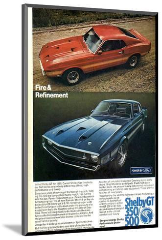 1969 Mustang Fire & Refinement--Mounted Art Print