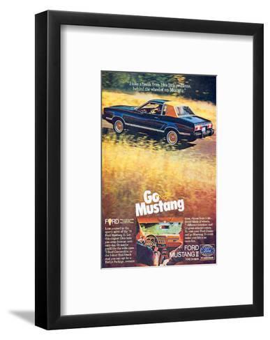 1978 Mustang - I Take a Break--Framed Art Print