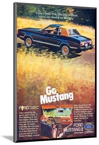 1978 Mustang - I Take a Break--Mounted Art Print