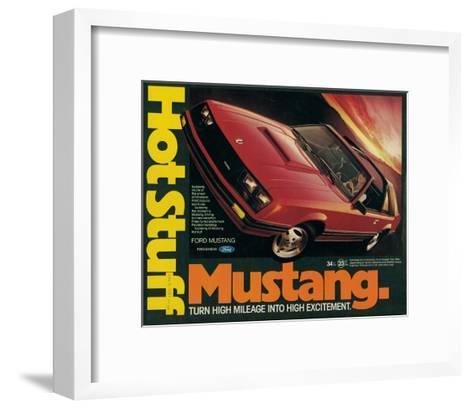 1981 Mustang - Hot Stuff--Framed Art Print