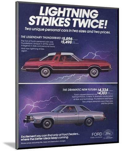 1978 Thunderbird Lightning--Mounted Art Print
