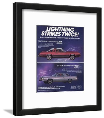 1978 Thunderbird Lightning--Framed Art Print