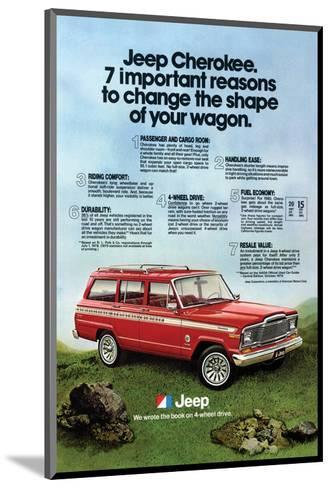 1980 Jeep Cherokee - Reasons--Mounted Art Print