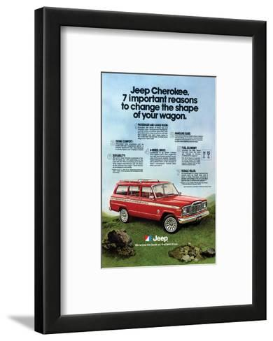 1980 Jeep Cherokee - Reasons--Framed Art Print