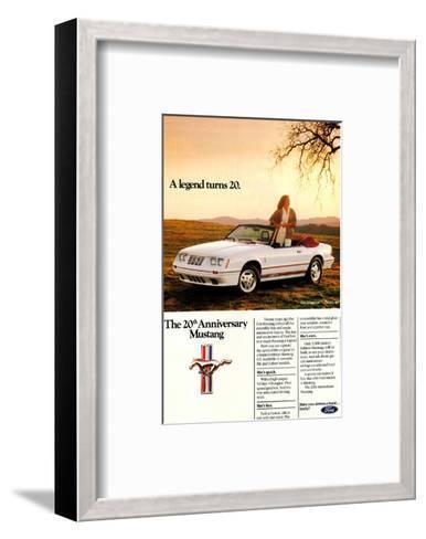 1984 Ford Mustang GT 20Th--Framed Art Print