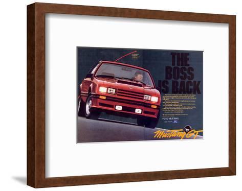 1982 Mustang GT - Boss is Back--Framed Art Print
