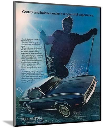 1972 Control & Balance Mustang--Mounted Art Print