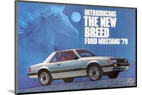 1979 Mustang - the New Breed--Mounted Art Print