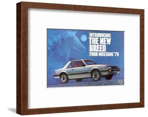 1979 Mustang - the New Breed--Framed Art Print