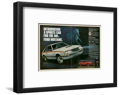 1980 Mustang '80S Sports Car--Framed Art Print