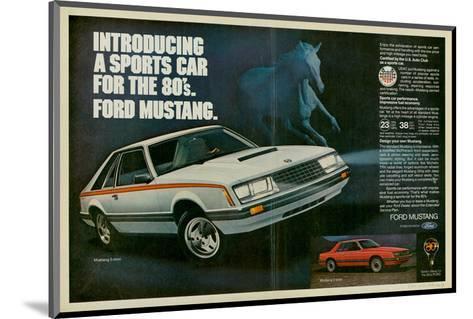 1980 Mustang '80S Sports Car--Mounted Art Print