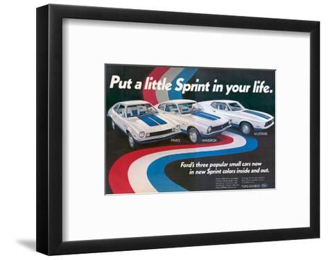 1972 Pinto Maverick Mustang--Framed Art Print