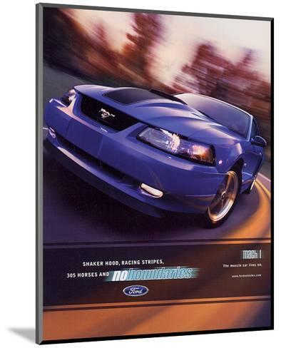 2003 Mustang- Muscle Car Lives--Mounted Art Print