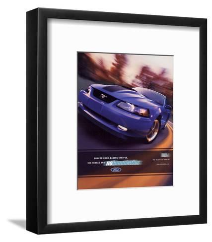 2003 Mustang- Muscle Car Lives--Framed Art Print