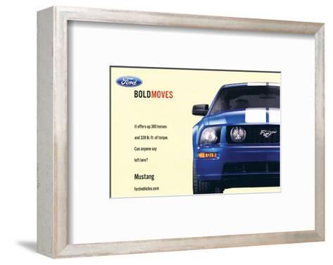 2007 Mustang-Offers 300 Horses--Framed Art Print
