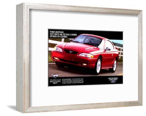 1996 Mustang-Spoken So Clearly--Framed Art Print