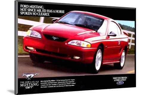 1996 Mustang-Spoken So Clearly--Mounted Art Print