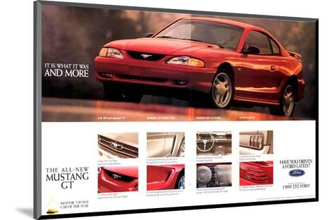 1994 Mustang - What It Was…--Mounted Art Print