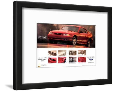 1994 Mustang - What It Was…--Framed Art Print