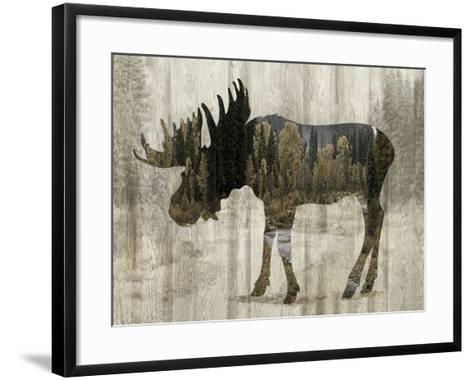 Camouflage Animals - Moose-Tania Bello-Framed Art Print