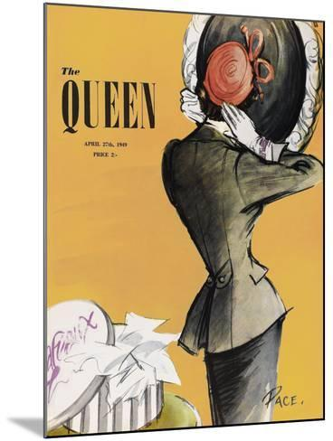 The Queen - Saffron-The Vintage Collection-Mounted Giclee Print