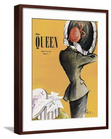 The Queen - Saffron-The Vintage Collection-Framed Art Print
