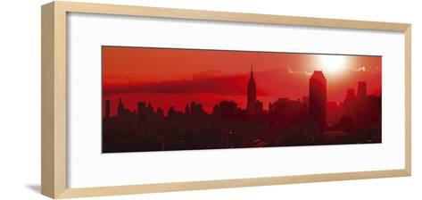 Sunset Over the City-Jakob Dahlin-Framed Art Print