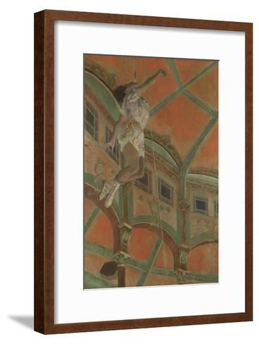 Miss La La at the Cirque Fernando, 1879-Edgar Degas-Framed Art Print