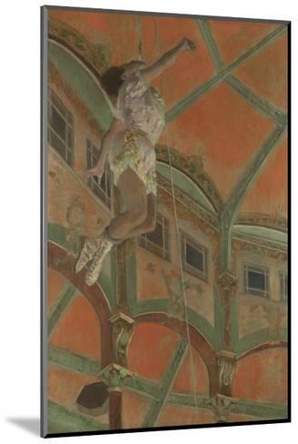 Miss La La at the Cirque Fernando, 1879-Edgar Degas-Mounted Premium Giclee Print