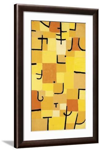 Signs in Yellow-Paul Klee-Framed Art Print