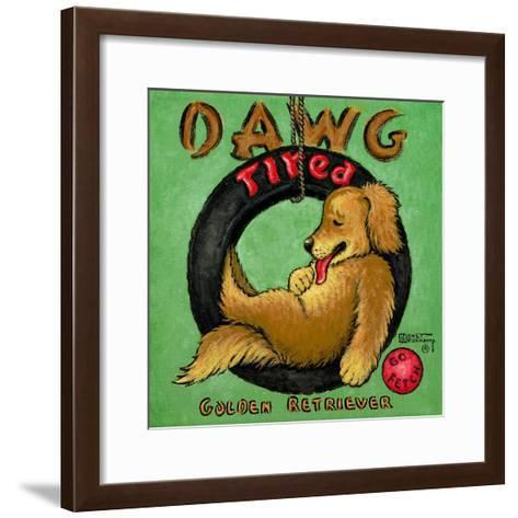 Dawg Tired-Janet Kruskamp-Framed Art Print