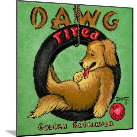 Dawg Tired-Janet Kruskamp-Mounted Art Print