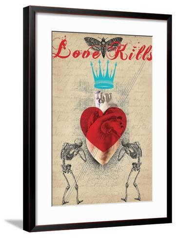 Love Kills-Elo Marc-Framed Art Print