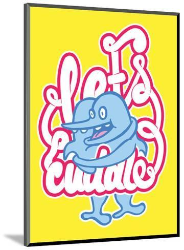 Let's Cuddle - Tommy Human Cartoon Print-Tommy Human-Mounted Art Print