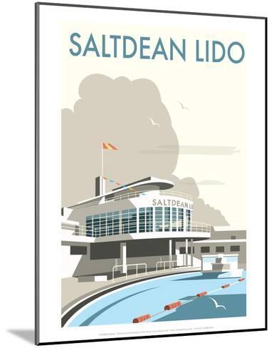 Saltdean Lido - Dave Thompson Contemporary Travel Print-Dave Thompson-Mounted Art Print