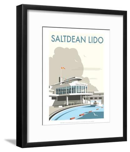 Saltdean Lido - Dave Thompson Contemporary Travel Print-Dave Thompson-Framed Art Print