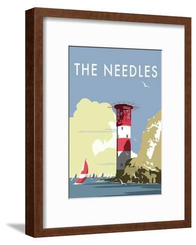 The Needles - Dave Thompson Contemporary Travel Print-Dave Thompson-Framed Art Print