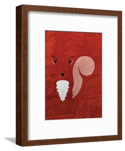 Squirrel - Jethro Wilson Contemporary Wildlife Print-Jethro Wilson-Framed Art Print