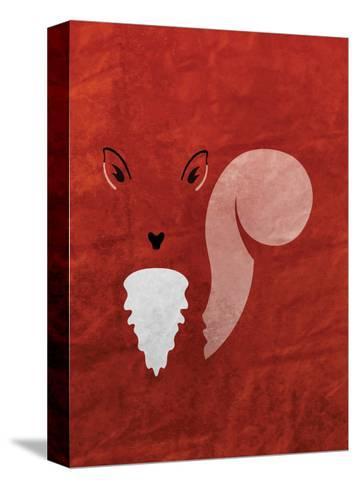 Squirrel - Jethro Wilson Contemporary Wildlife Print-Jethro Wilson-Stretched Canvas Print