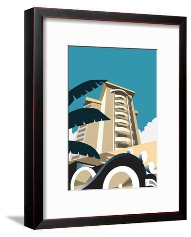 Miami Blank - Dave Thompson Contemporary Travel Print-Dave Thompson-Framed Art Print