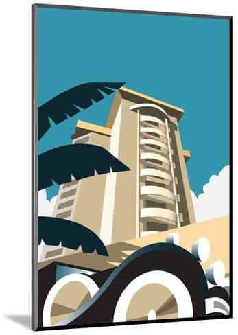 Miami Blank - Dave Thompson Contemporary Travel Print-Dave Thompson-Mounted Art Print