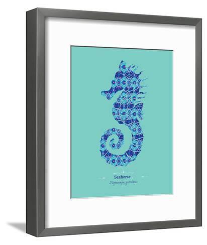 Seahorse - WWF Contemporary Animals and Wildlife Print- WWF-Framed Art Print