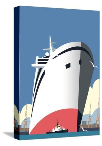 Ocean Cruises Blank - Dave Thompson Contemporary Travel Print-Dave Thompson-Stretched Canvas Print