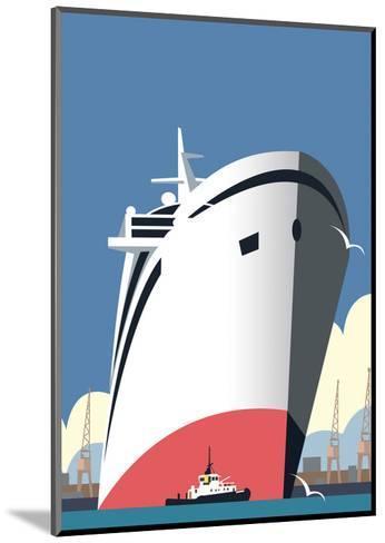 Ocean Cruises Blank - Dave Thompson Contemporary Travel Print-Dave Thompson-Mounted Art Print